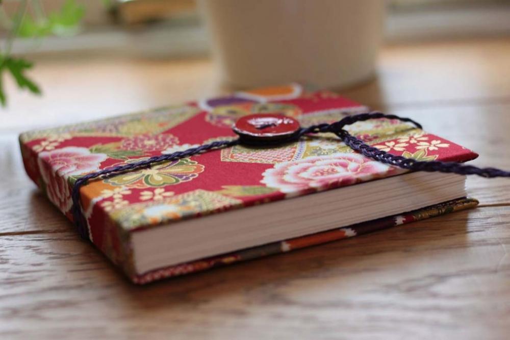 Fabric covered sketchbook workshop