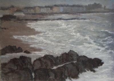 NORTH BEACH,LOW TIDE, Oil on board