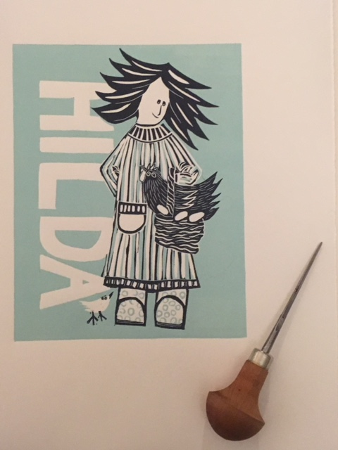 Hilda (Limited edition reduction lino print)