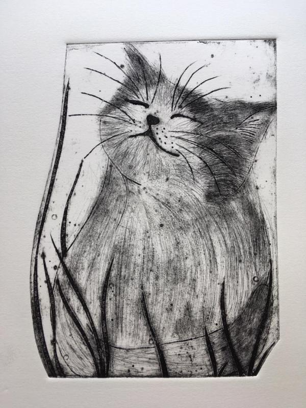 Maude (Collagraph)