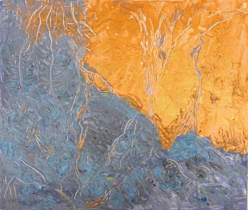 Deryn Wilcox....  Landsat1....  Acrylics