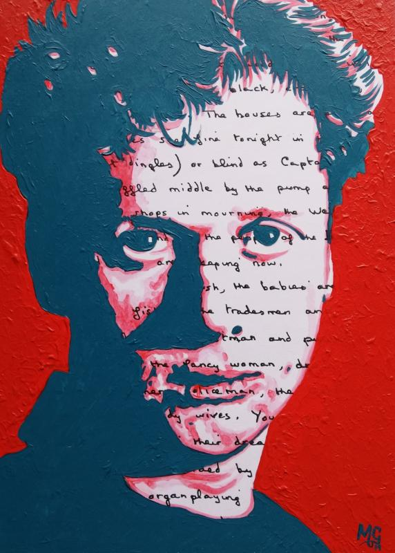 Malcolm Gwyor....  Dylan Thomas....  Acrylics
