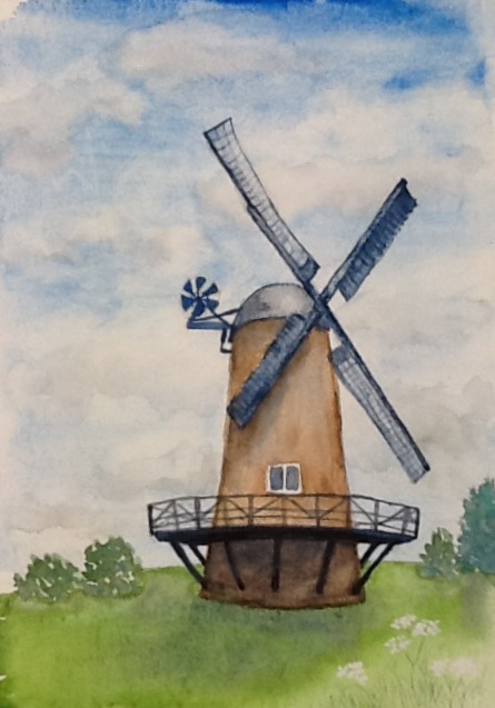 Wendy Williams....  Windmill....  Watercolour
