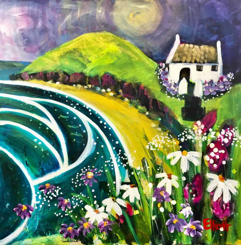 'The Magic of Mwnt' An example of my naive style work