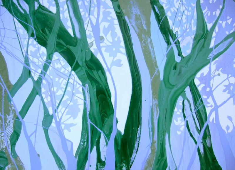 Faery Woods, oil & acrylic on paper