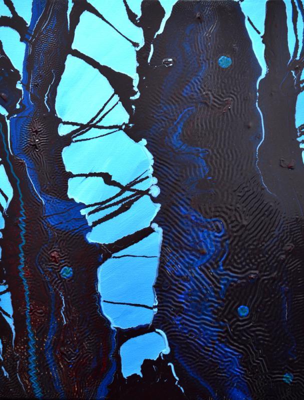 Old Oak II, oil & acrylic on canvas