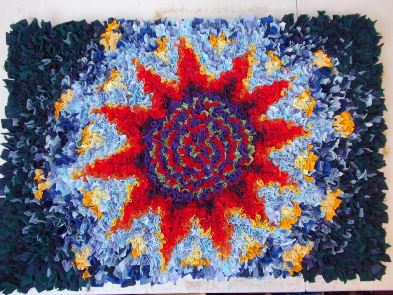 Prodded rag rug kit design  £25