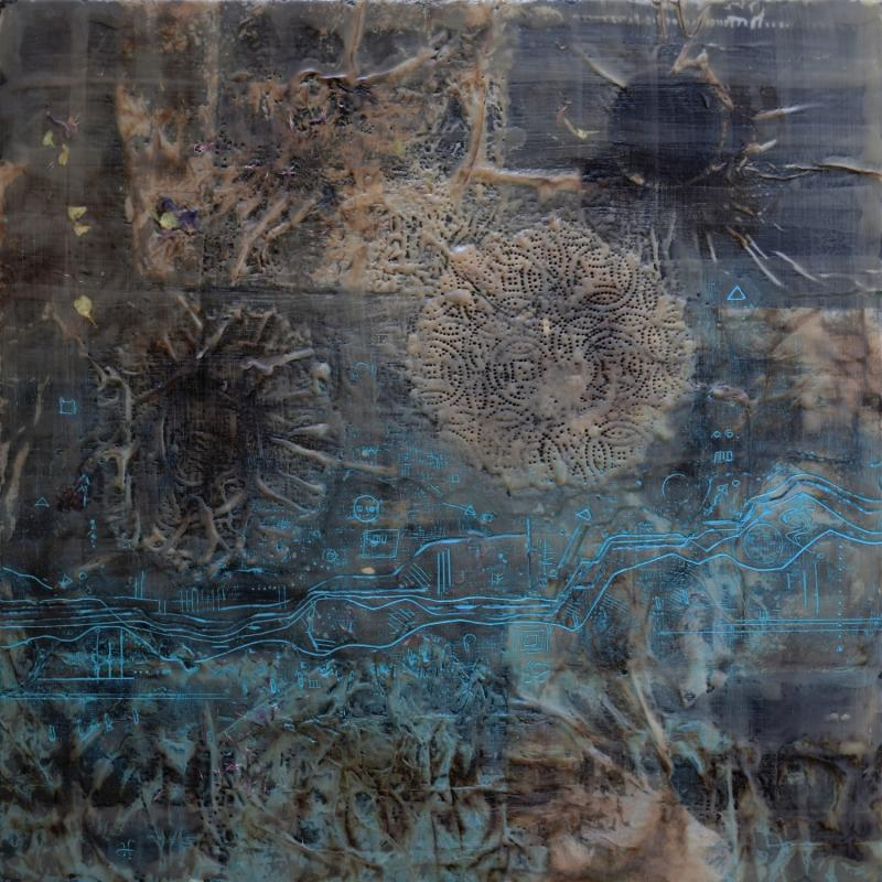 Not That End Of Time | 2019 | Collage, encaustic wax & oil colour on board | 600 x 600 mm | £850