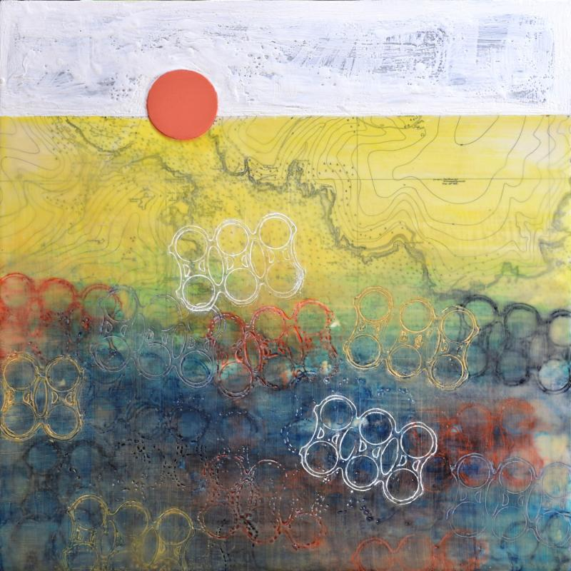 Olympia Mare | 2019 | Collage, encaustic wax & oil colour on board | 600 x 600 mm | £850