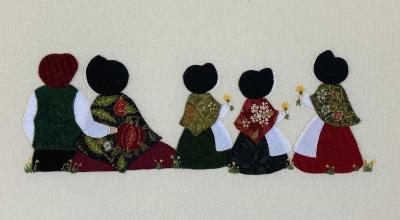 Hand stitched family pictures made to order.  Limited availability