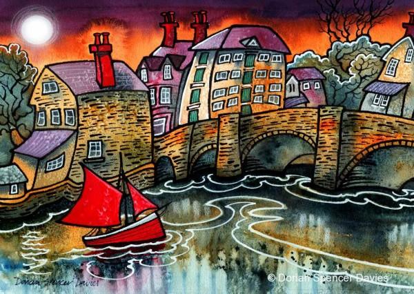 Red Sail Cardigan Bridge